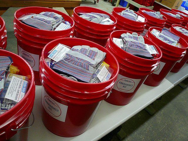 Flood Bucket Challenge During Worship